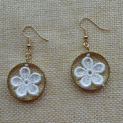Natural Flower Lace Hoop Earrings from  Chanch Accessories International Co. Ltd