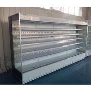 China Remote supermarket wall type multidecks open display refrigerator