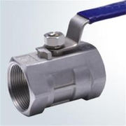 China DN100 2 pieces brass flange end ball valve