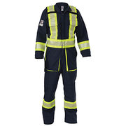 Hi-Visibility 7.0oz Ripstop Coverall 100% Polyester 3M Reflective Coveralls