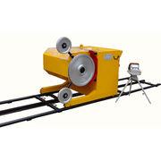 China Concrete Cutting Diamond Wire Saw Machine, Controlled by Dual Inverter + PLC