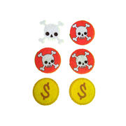 China Little pirate role play gold coins and skulls accessories sets toys
