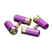 New Arrival Purple Round Battery-shaped Cufflinks from  Chanch Accessories International Co. Ltd