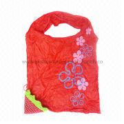 Unique Strawberry Pattern Foldable Shopping Bag from  Chanch Accessories International Co. Ltd