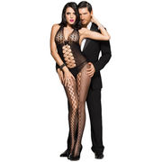 Black Honeycomb Accent Daring Sheer Bodystocking from  Nan'an City Shiying Sexy Lingerie Co. Ltd