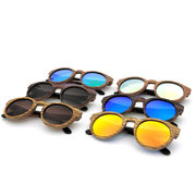 China Natural handmade wooden sunglasses, cat 3 polarized laminated wooden sunglasses