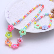 Children color necklace sautoir two-piece chain from  HK Yida Accessories Co. Ltd