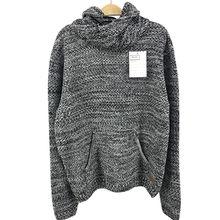 Ladies round neck Bone wave knitted pullover