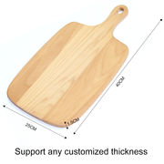 China 2018 Factory Wholesale Custom Natural Beech Wood Cutting Board with Handle
