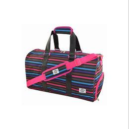 Striper Polyester Duffel Travel Bags from  Xiamen Dakun Import & Export Co. Ltd