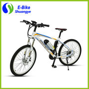 China 26'' mountain electric bicycle, heterotype tube, imitation carbon fiber frame