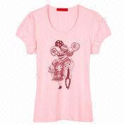 Women's T-shirt from  Fuzhou H&f Garment Co.,LTD