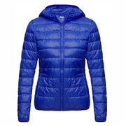 Warm custom women's winter jacket from  Fuzhou H&f Garment Co.,LTD