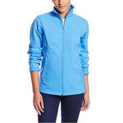 Latest fashion soft shell ladies jacket from  Fuzhou H&f Garment Co.,LTD