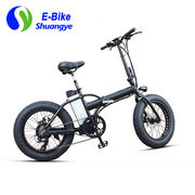 China New and stylish 20''*4.0/36V Lithium battery powered folding electric fat bike