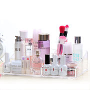 China Clear Acrylic Cosmetics Makeup Jewelry Organizer with 2 Drawers