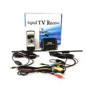 China High speed HD car DVB-t2 digital TV receiver tuner box with 2 antenna