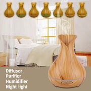 China On Promotion Aickar Vase Style Diffuser, Wooden Essential Oil Diffuser, AN-0508