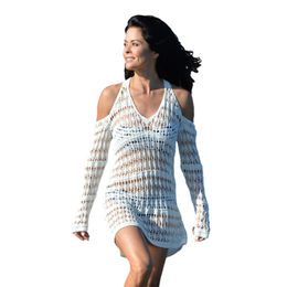Long Sleeves Cut out Shoulder Crochet Beachwear from  Nan'an City Shiying Sexy Lingerie Co. Ltd