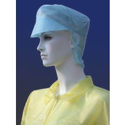 China Disposable nonwoven white snood cap for food industry, available in various materials and weight