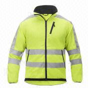 Yellow Fleece Jacket from  Fuzhou H&f Garment Co.,LTD