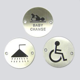 Stainless Steel Circular Sign Plate from  Kin Kei Hardware Industries Ltd