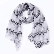 Printed Chevron Zigzag Scarf from  Hangzhou Willing Textile Co. Ltd
