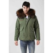 China 100% cotton wholesale men's short fur jackets, customize size and colors are accepted