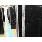 China China Nero Marquina Black Marble Tiles, Own Quarry Mining, SGS and ISO Certified