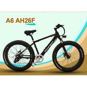 "China 26"" Fat Electric Bike, Cruiser 36/48V/350W Hidden Battery Electric Beach Bike"