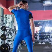 China Men's Compression Gym Round-neck T-Shirt