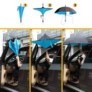 China Cars reverse umbrella with c-shaped handle and carrying bag