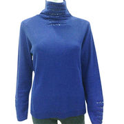100%Cashmere Turtle Neck Sweater from  Inner Mongolia Shandan Cashmere Products Co.Ltd