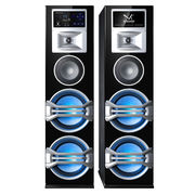China China Factory 2.0 Home Active Bluetooth Speakers, Systems with LED Light FM Radio Wireless Mic