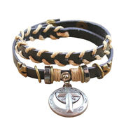 Punk Style Cross Adjustable PU Leather Bangles from  HK Yida Accessories Co. Ltd