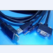 China Full HD 1080p Conversion Cable HDMI to VGA and Audio Converter, Supports 3D with Audio + USB Output