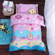 China 100% polyester printed bed sheet set/made in China 100% organic polyester baby bedding set