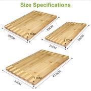 China Kitchen Furniture FDA Test Eco-friendly Custom Natural Bamboo Cutting Board Set