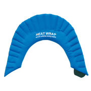 China Buckwheat back wrap, heat in microwave oven, soft touch material and adjustable strap