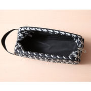 Hong Kong SAR Make up bag, nylon with leather handle, suitable for daily and promotion, customized accepted