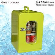 China 15L portable dual-use mini car refrigerator with transparent door , CE,GS,UL approval
