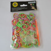 Rainbow loom rubber band bracelet from  Baoding Huaxiang Industry Company Limited
