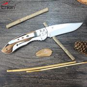 China Enlan-Classical Zebra Wood Handle Stainless Steel Sidelock Folding Knife E011-3