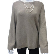 100% cashmere knitted women sweater from  Inner Mongolia Shandan Cashmere Products Co.Ltd