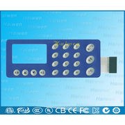 China Membrane keypad with LED backlight, back illumination