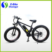 China Fashion 26*4.0 inch 36V 48V 350W 500W high power fat tire electric bike
