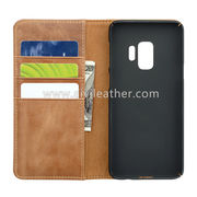 China Leather Phone Wallet Case for Samsung Galaxy S9