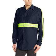 Men's Industrial 2 Piece Lined Collar Work Shirt from  Fuzhou H&f Garment Co.,LTD