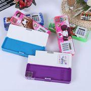China Calculator pencil case, button sharpener pencil box/PVC pencil case/plastic pencil/cartoon pattern