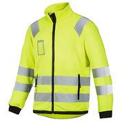 Warm soft reflective fleece jacket from  Fuzhou H&f Garment Co.,LTD